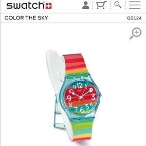 Swatch «Color The Sky» Plastic Strap Watch